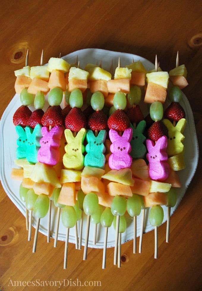 Peep Fruit Kabobs