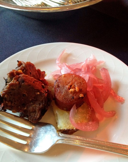 tenderloin with pickled onions