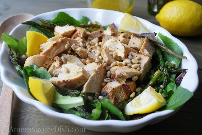Grilled Chicken & Asparagus Salad