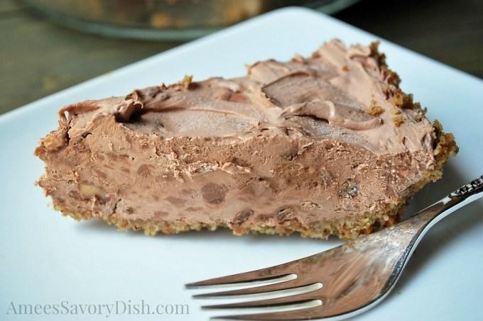Whipped Chocolate Pie Slice