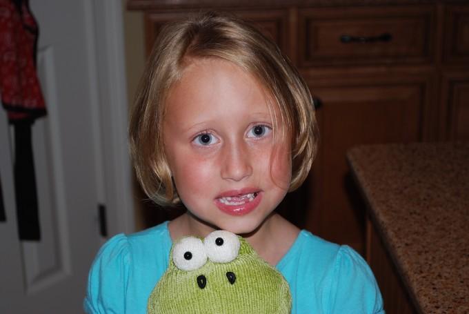 Lauren and froggy