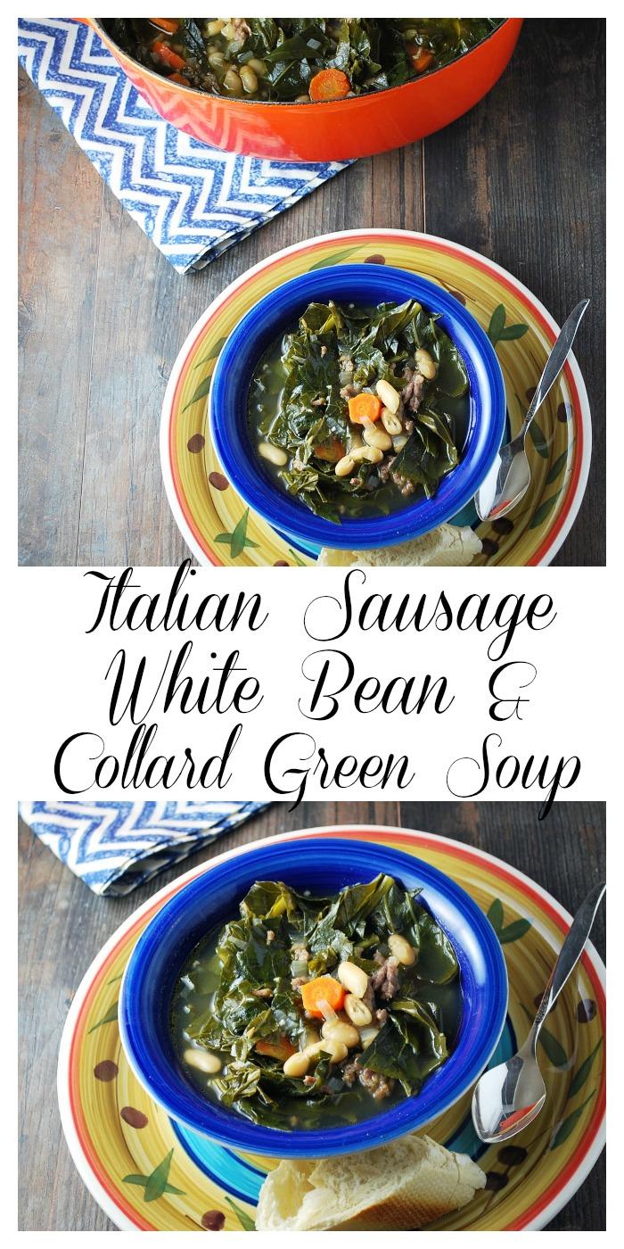 Italian Sausage White Bean & Collard Green Soup recipe