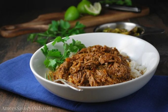Delicious Instant Pot Cuban-Style Shredded Beef