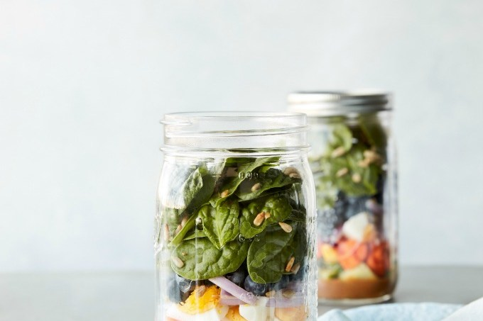 """This simple and easy meal prep Superfood Salad with Lemon Balsamic Vinaigrette is just one of the many great recipes from Toby Amidor's new cookbook """"Smart Meal Prep For Beginners"""""""