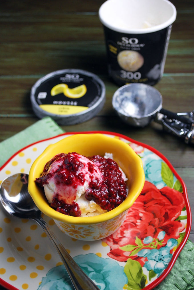 This Dairy Free Lemon Mousse with Easy Raspberry Compote is a guilt-free treat that tastes like a decadent splurge.