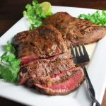 Garlic Lime Grilled Flat Iron Steak is an easy grilling beef recipe that uses fresh limes, heart-healthy extra virgin olive oil, fresh herbs and seasonings.