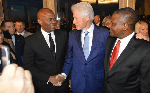 former President, Bill Clinton Marks 70th birthday with Elumelu, Dangote
