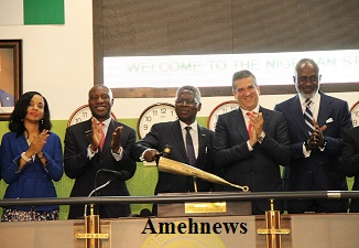 Nestle Boss Performs Market Closing Bell Ceremony At NSE.