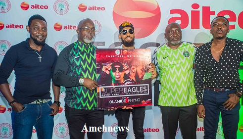 Aiteo Unveil Official Super Eagles Theme Song Produced by Phyno, Olamide in Star-studded Event Hosted by AY, Bovi