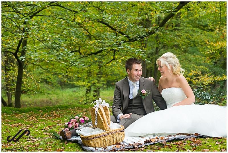 bruiloft trouwfotograaf picknick