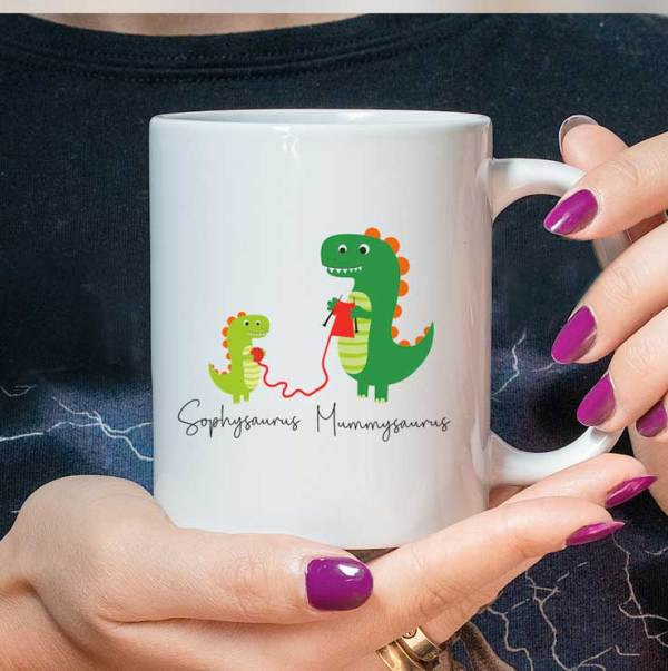 Personalised Dinosaur Family Mug