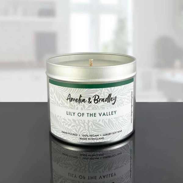 lily of the valley soy wax candle