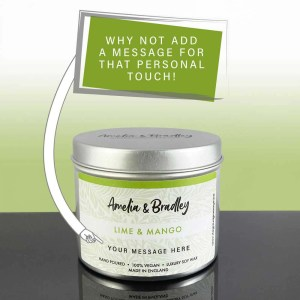 lime and mango soy wax candle