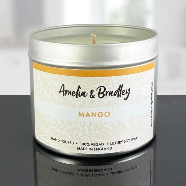 mango soy wax candle