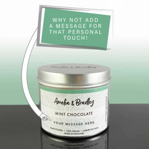 mint chocolate soy wax candle