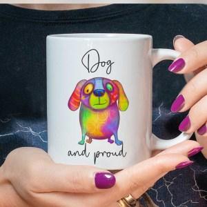 Rainbow Dog Mug LGBTQ