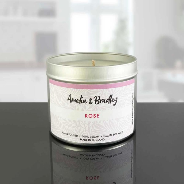 Rose soy wax candle