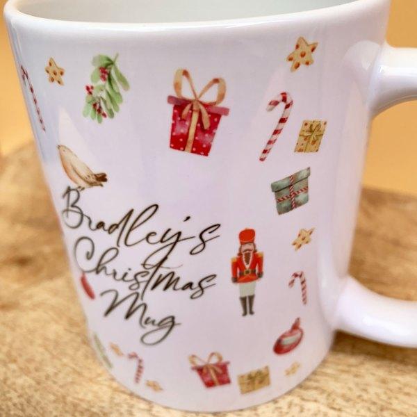 Personalised Christmas Nutcracker Mug