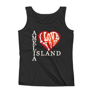 Amelia I Love You Missy Fit Tank-Top Black