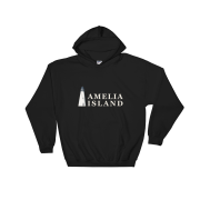 Amelia Island Iconic Lighthouse Hoodie Black