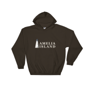 Amelia Island Iconic Lighthouse Hoodie Dark-Chocolate