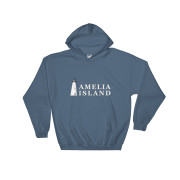 Amelia Island Iconic Lighthouse Hoodie Indigo-Blue