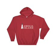 Amelia Island Iconic Lighthouse Hoodie Red