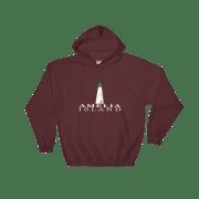 Amelia Island Lighthouse Hoodie Maroon