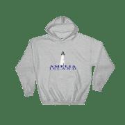 Amelia Island Lighthouse Hoodie Sport-Grey