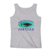Amelia Island Right Whale Nursery Ladies Missy Fit Ringspun Tank Top Heather-Grey