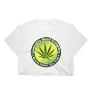 Cannabis Seed Company Short Sleeve Cropped T-Shirt White