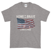 Home of the Brave Land of the Free Sport-Grey