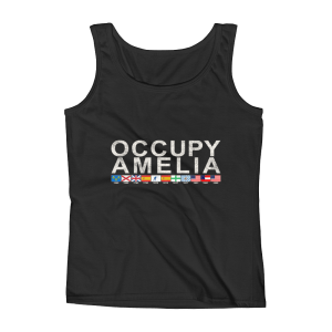 Occupy Amelia Ladies Missy Fit Tank Top Black