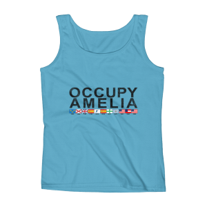 Occupy Amelia Ladies Missy Fit Tank Top Caribbean-Blue