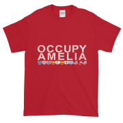 Occupy Amelia Ultra Cotton T-Shirt Cherry-Red White Graphic