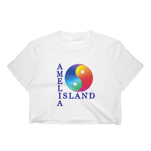 Yin & Yang Short Sleeve Cropped T-Shirt White