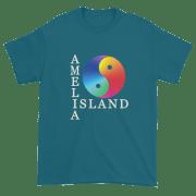 Yin & Yang Ultra Cotton T-Shirt Galapagos-Blue