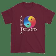 Yin & Yang Ultra Cotton T-Shirt Maroon