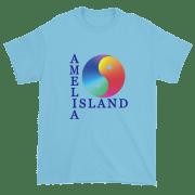 Yin & Yang Ultra Cotton T-Shirt Sky with Dark Blue Text