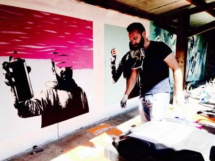 Bristol Upfest 2015 - Artist at work