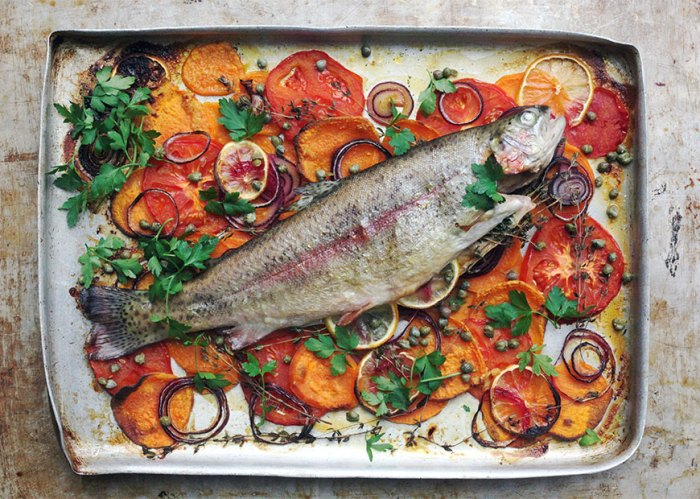 Baked Trout