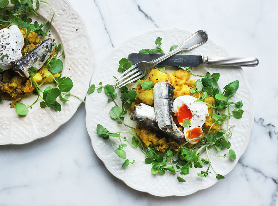 Sardines with Spiced Potatoes