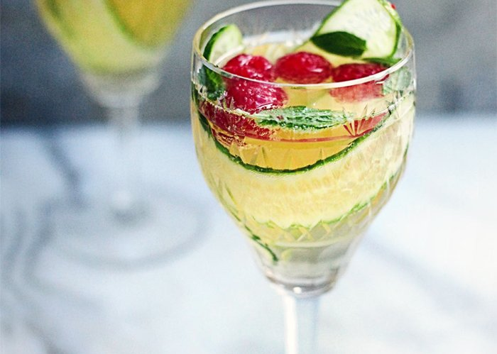 "Champagne ""pimms' by Amelia Freer"