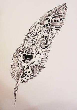 Plume mécanique (Sketchy)