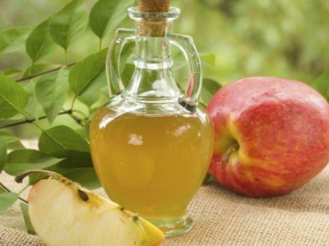 Le vinaigre de pomme en traitement.