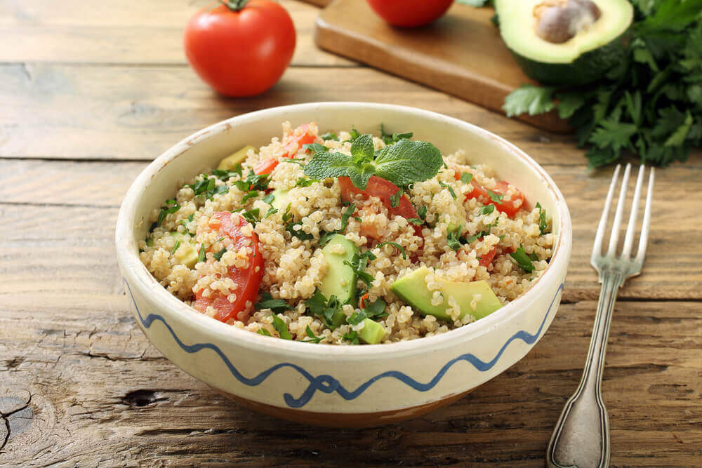 Quinoa and guacamole