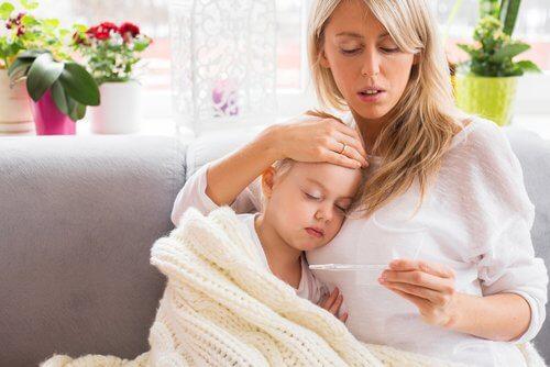 mère et sa fille atteinte de méningite