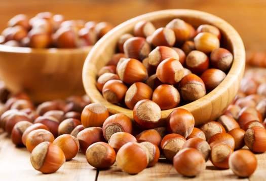 fruits secs : les noisettes