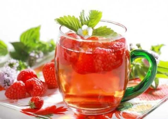 infusion de fruits : framboises