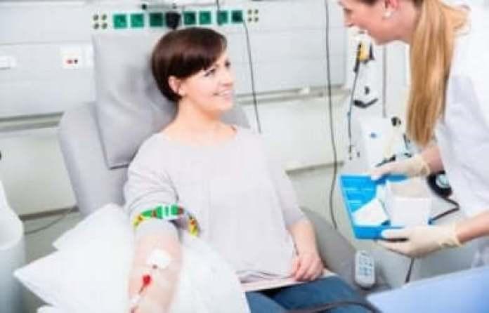 Le don du sang.